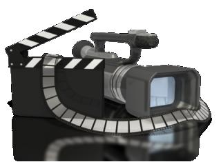 video camera & clapboard